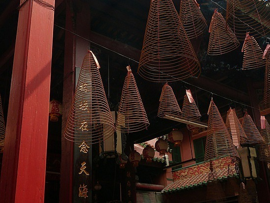 Incense  spirals at temple