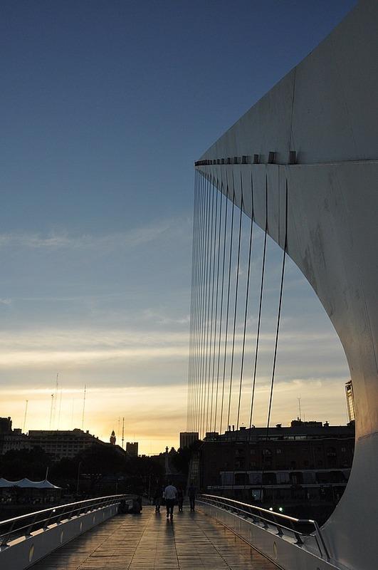 Calatrava bridge in Puerto Madero