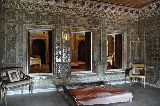 The Maharaja's bedroom