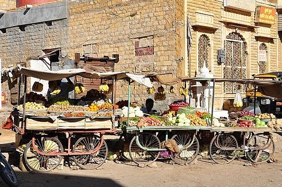 Fruit stalls