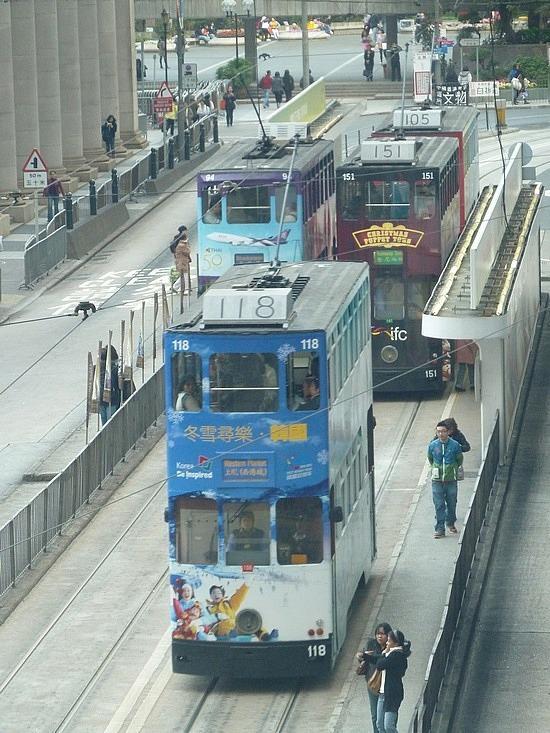Double decker trams