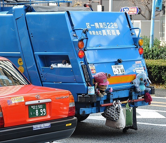 Even garbage trucks are funky