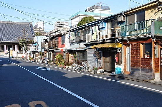 low-rise buildings in high-rise Tokyo