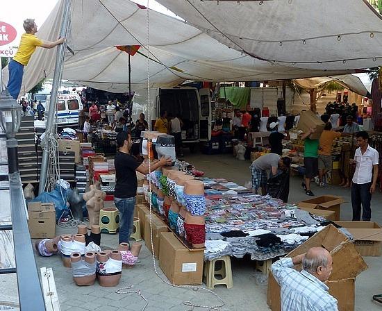 massive street market -  kusadasi