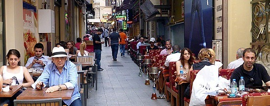 every laneway a cafe -  istanbul