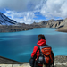 hiking to the tlicho lake during annapurna circuit trekking