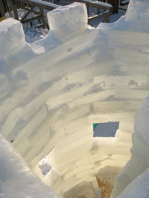 Ice stairwell