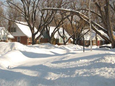 Snow swept street