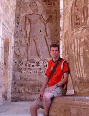 Me at Medinet Habu, West Bank Luxor