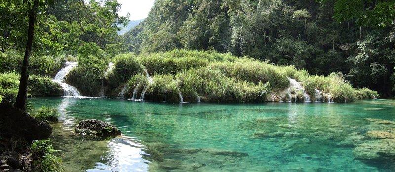Panorama of Semuc Champey Pools