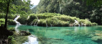 Panorama of Semuc Champey Pools