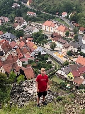 Looking down into Pottenstein Village