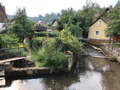 Wier in Pottenstein Village