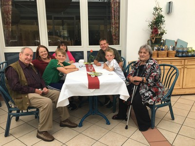 Lunch with Tante Lorle, Onkel Helmut and Tante Siglinde