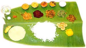 Kerala traditional food in Banana Leaf