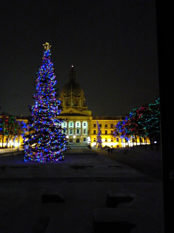 Legislature in Edmonton at Christmas