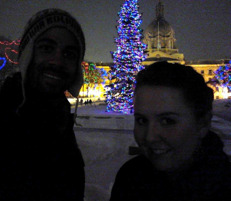Christmas at the Legislature in Edmonton
