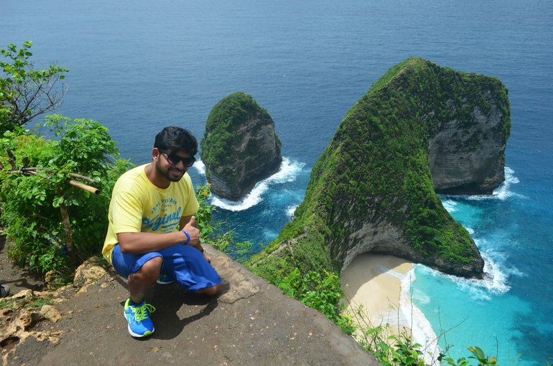 At the famous T-Rex point - Nusa Penida (Klingkling beach)