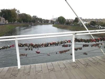Love locks at Love Bridge