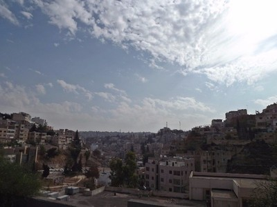 A view from a hill in downtown Amman