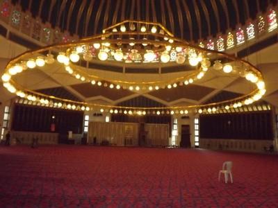 Inside King Abdullah Mosque