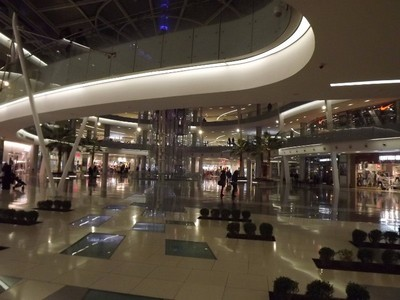 Inside a shopping mall at the Boulevard