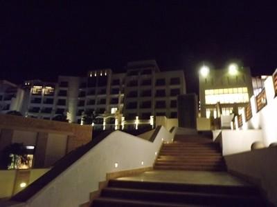 Visiting Hilton Hotel beach