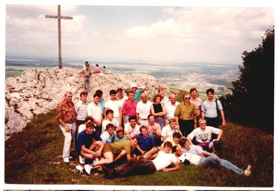 Our group at the Peace Cross on top of Felskopf