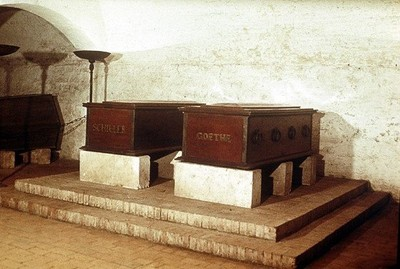 The tombs of Goethe and Shiller