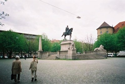 King Wilhelm monument in front of the Local Lore Museum