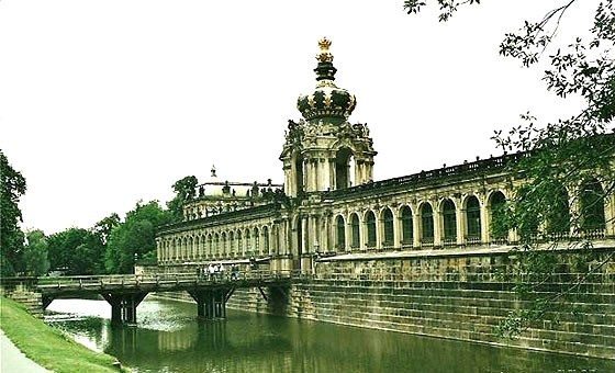 The Crown Gate at the entrance to Zwinger