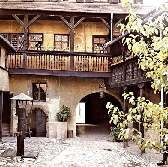 The medieval courtyard in Weimar
