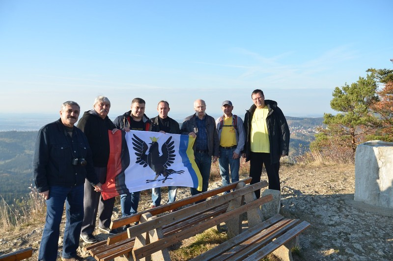 Our group at the mountain top