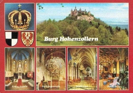 My favourite postcard from Burg Hohenzollern (absolute photography ban inside the fortress