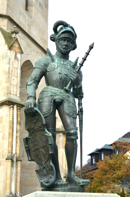 Ulrich the Knight statue at the fountain