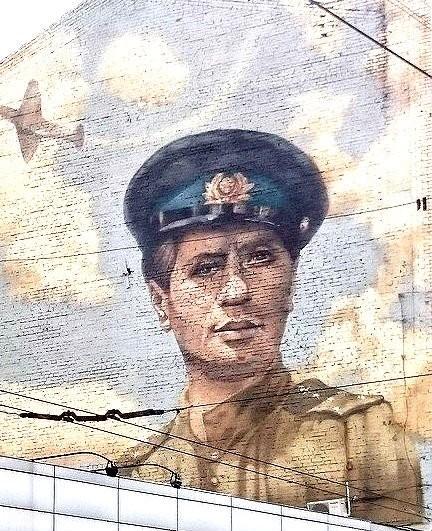 Leonid Bykov mural in Sumy Street