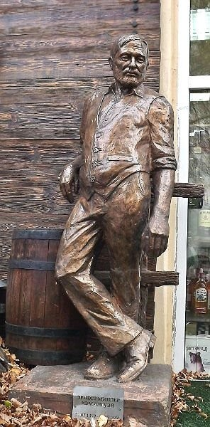 The monument to Ernest Hemingway
