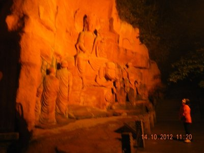 Rock carved Buddha Emei Shan City