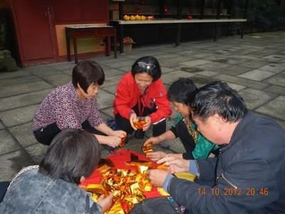 Emei Shan temple decorations