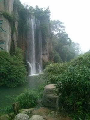 Emei Shan city park waterfall