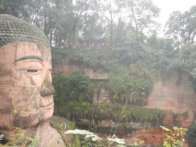 Leshan Giant Buddha, overlooking the confluence of rivers and facing Emei Shan