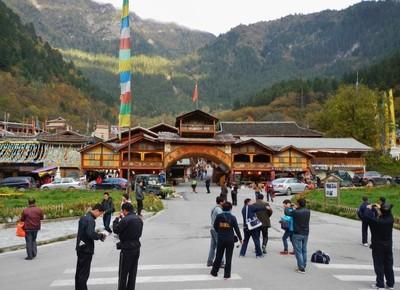 Juizhaiguo National Park - the Tibetan village inside the park