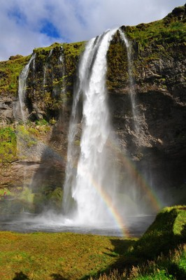 Iceland, Seljalandsfoss waterfall
