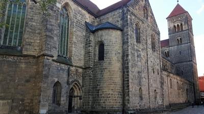 Germany - Harz - Quedlinburg, St. Servatius church at castle hill