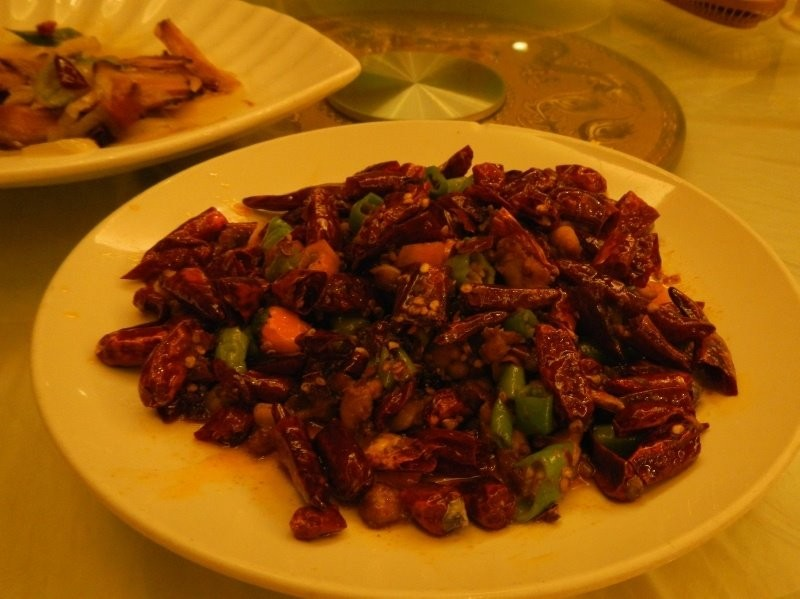 Sichuan food - duck feet soles with chillies
