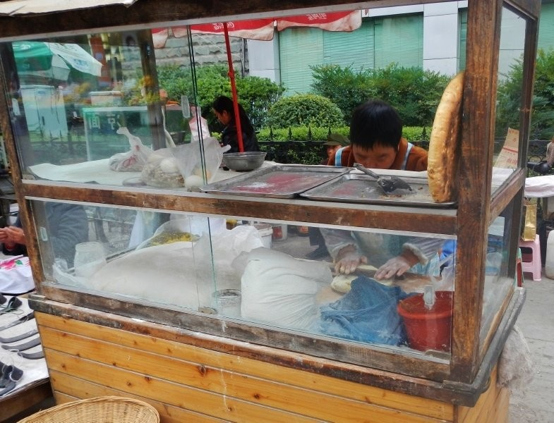 Nanping Town market - a street bakery