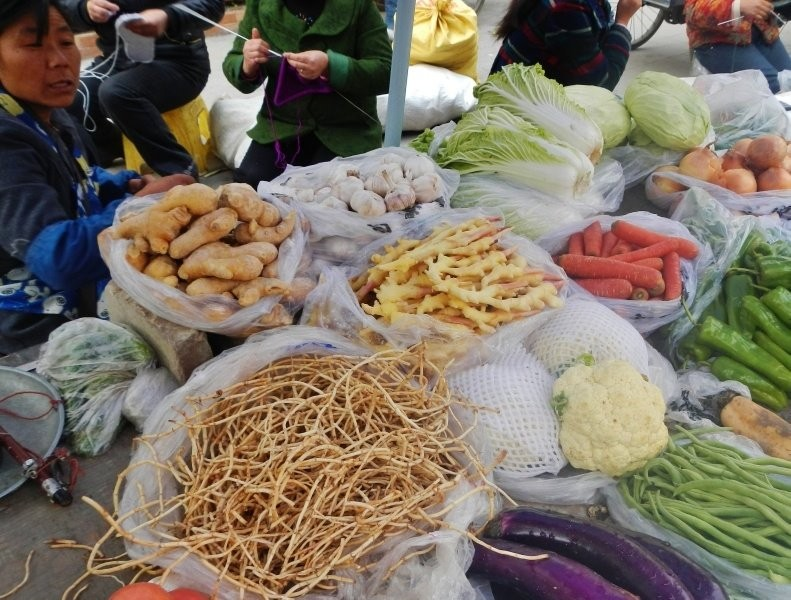 Nanping Town market - healthy stuff