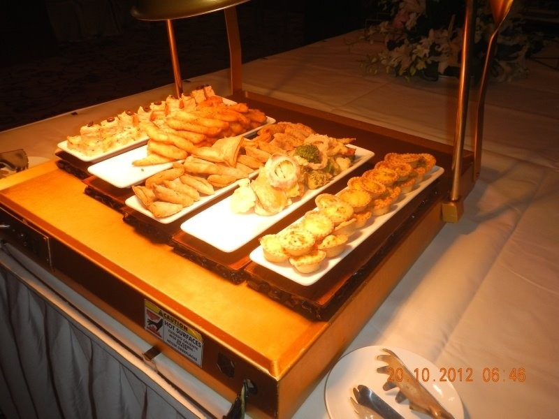 Chengdu wine tasting event - warm snacks for the guests