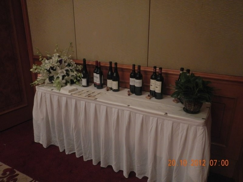 Chengdu - a small selection of the wines to be presented