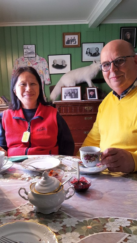 The old Litlibaer farmhouse, now a favorite homey pitstop for coffee, waffles, home made berry jam and cream